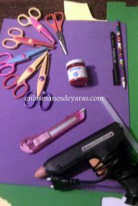 Material que utiliza para decorar