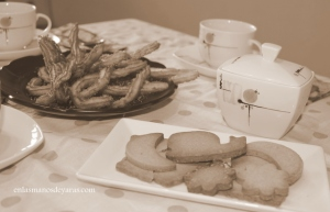 Churros y nuestras galletas de mantequilla