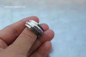 anillo plata y cuero 4