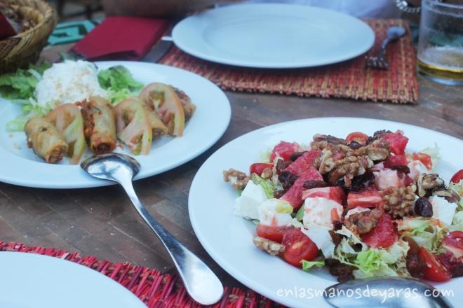 primeros platos en jardín del califa